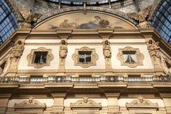 Galeria Vittorio Emanuele II em Milão, Itlay Foto de Stock Royalty Free
