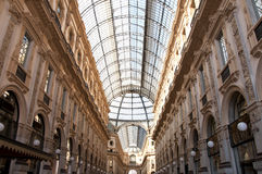 Galeria Vittorio Emanuele II em Milão, Itlay Fotos de Stock