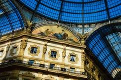 Galeria Vittorio Emanuele II na central de Milão, Itália Fotos de Stock