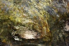 Galeria vulcânica da caverna na ilha de Terceira açores Algar faz Carva Fotos de Stock Royalty Free
