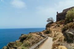 Galeriala Fajana, het Eiland van Los Realejos, Tenerife Royalty-vrije Stock Fotografie