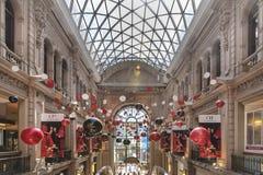 Galerias Pacifico durante il tempo di Natale fotografia stock