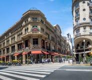 Galerias Pacifico i Calle Floryda Floryda ulica - Buenos Aires, Argentyna Obraz Royalty Free