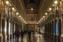 Galerias reais de Bruxelas Saint-Hubert (Galerie du Roi, Galerie du Reine) fotografia de stock