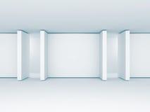 Galerie Absract-freien Raumes sortiert Fahnen aus Architektur-Innenraum Bak vektor abbildung