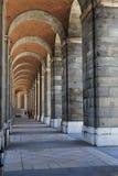 Galerie arquée de Royal Palace à Madrid Photos libres de droits