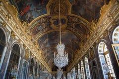 Galerie Château de凡尔赛,法国des glaces  库存图片