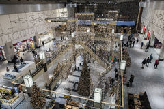 Galerie d'achats au temps de Noël Photo stock