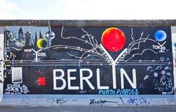 Galerie de côté est à Berlin, Allemagne Images libres de droits