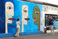 Galerie de côté est de mur de Berlin photos libres de droits