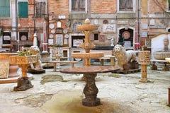 Galerie de l'antiquité sous le ciel ouvert à Venise Photo libre de droits