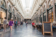 Galerie de la Reine in Brussels Royalty Free Stock Image