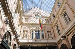 The Galerie de la Reine, Brussels. The Galeries Royales Saint-Hubert & x28;Galerie de la Reine& x29;, a glazed shopping arcade in Brussels, Belgium Stock Photos