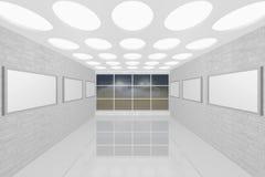 Galerie de peinture intérieure moderne Photo libre de droits