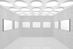 Galerie de peinture intérieure moderne Photo stock