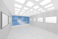 Galerie de peinture intérieure moderne Photos stock