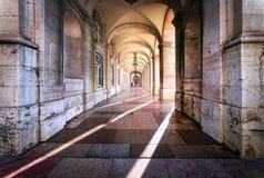Galerie de répétition Les rues de Lisbonne portugal images stock