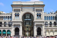 Galerie de Vittorio Emanuele II à Milan, Italie Photo libre de droits