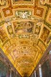 Galerie der Landkarten in Vatikan-Museum Lizenzfreie Stockfotografie