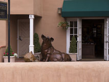 Galerie in der Stadt von Santa Fe In New Mexiko Stockfotografie