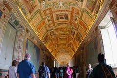 Galerie des cartes, Ville du Vatican photographie stock