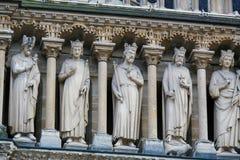 Galerie des Rois på Notre Dame, Paris royaltyfri bild