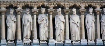 Galerie des Rois på Notre Dame, Paris royaltyfri foto