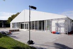Galerie, die Einrichtung für Art Balse 2013 erhält Lizenzfreie Stockfotografie