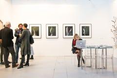 Galerie in einer Kunst angemessen Stockbilder