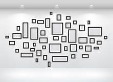 Galerie-Innenraum mit leerem Stockbild
