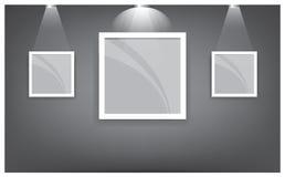 Galerie-Innenraum mit leerem Regal auf Wand 02 Stockfotografie