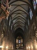 Galerie innerhalb der Kathedrale in Straßburg lizenzfreies stockfoto