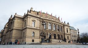 Galerie Rudolfinum в Праге, чехии Стоковые Фотографии RF