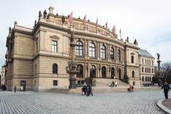 Galerie Rudolfinum in Praag, Tsjechische Republiek Stock Foto's