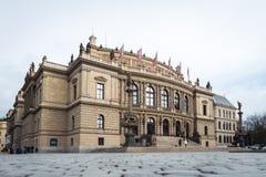 Galerie Rudolfinum in Praag, Tsjechische Republiek Royalty-vrije Stock Foto's