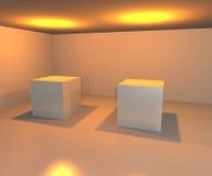 Galerie-Scheinwerfer-Hintergrund Lizenzfreie Stockfotos