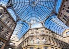 Galerie Umbertos I in Neapel Stockbilder