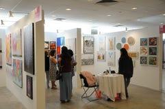 Galerie-Verzeichnis in Singapur erschwinglicher Art Fair 2017 Stockfotografie