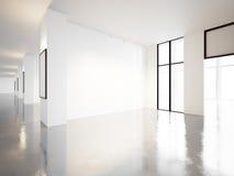 Galerie vide de musée contemporain 3d rendent Photos stock
