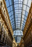 Galerie Vittorio Emanuele II in zentralem Mailand, Italien Stockbild