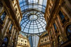 Galerie Vittorio Emanuele II in zentralem Mailand, Italien lizenzfreie stockfotografie