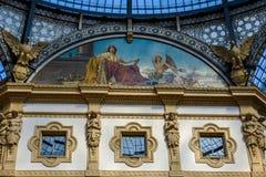 Galerie Vittorio Emanuele II in zentralem Mailand, Italien stockfotografie