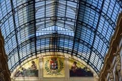 Galerie Vittorio Emanuele II in zentralem Mailand, Italien lizenzfreies stockbild