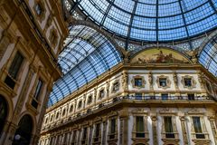 Galerie Vittorio Emanuele II in zentralem Mailand, Italien stockbilder