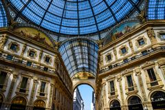 Galerie Vittorio Emanuele II in zentralem Mailand, Italien lizenzfreies stockfoto
