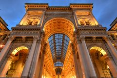 Galerie Vittorio Emanueles II - Mailand, Italien stockbilder