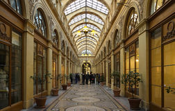 The Galerie Vivienne is a historical passage in Paris, France. Royalty Free Stock Images
