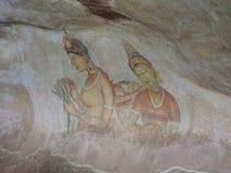 Galerie von Freskos in Sigiriya Lizenzfreies Stockfoto