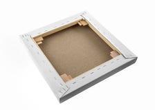 Galerie wickelte leeres Segeltuch auf Holzrahmen - Keilrahmenleiste fra ein stockfoto