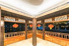 Galeriebrücke-c$ruzi Pavillon-Parknacht Stockbilder